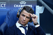 Real Madrid forward Cristiano Ronaldo (7)  during the Champions League match between Manchester City and Real Madrid at the Etihad Stadium, Manchester, England on 26 April 2016. Photo by Simon Davies.