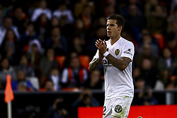 December 8, 2018 - Valencia, Spain - Santi Mina of Valencia CF   during spanish La Liga match between Valencia CF v Sevilla FC at Mestalla Stadium on December 8, 2018. (Photo by Jose Miguel Fernandez/NurPhoto) (Credit Image: © Jose Miguel Fernandez/NurPhoto via ZUMA Press)
