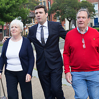 WARRINGTON, UK:<br /> Andy Burnham MP arrives for the Labour Leadership Hustings at the Pyramid Parr Hall on Saturday morning, 25th July 2015.<br /> PHOTOGRAPH BY TERRY KANE / BARCROFT MEDIA LTD<br /> <br /> UK Office, London.<br /> T: +44 845 370 2233<br /> E: pictures@barcroftmedia.com<br /> W: www.barcroftmedia.com<br /> <br /> Australasian &amp; Pacific Rim Office, Melbourne.<br /> E: info@barcroftpacific.com<br /> T: +613 9510 3188 or +613 9510 0688<br /> W: www.barcroftpacific.com<br /> <br /> Indian Office, Delhi.<br /> T: +91 997 1133 889<br /> W: www.barcroftindia.com