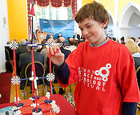 Conall McCabe, Clarenbridge, St. Pats NS  at the Science and Technology Festival programme launch at NUI, Galway  by Mr. William Hawkins, Chairman and CEO of Medtronic Inc., who employ 2000 people in Ireland and 44,000 worldwide in the Medical devices sector. The Festival runs from the 8th till the 21st of November in County Galway. Photo:Andrew Downes.