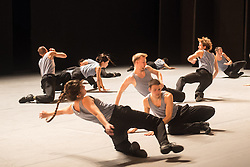 © Licensed to London News Pictures. 19/11/2012. London, UK. Batsheva Ensemble, the youth branch of world-renowned contemporary dance group, Batsheva Dance Company, appear at Sadler's Wells on Monday 19 - Wednesday 21 November, performing Deca Dance by Batsheva's Artistic Director Ohad Naharin - part of a Dance Consortium UK debut tour. Photo credit: Tony Nandi/LNP
