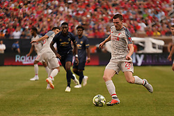 July 28, 2018 - Ann Arbor, MI, U.S. - ANN ARBOR, MI - JULY 28: Liverpool Defender Andy Robertson (26) takes a hot in the second half of the ICC soccer match between Manchester United FC and Liverpool FC on July 28, 2018 at Michigan Stadium in Ann Arbor, MI (Photo by Allan Dranberg/Icon Sportswire) (Credit Image: © Allan Dranberg/Icon SMI via ZUMA Press)