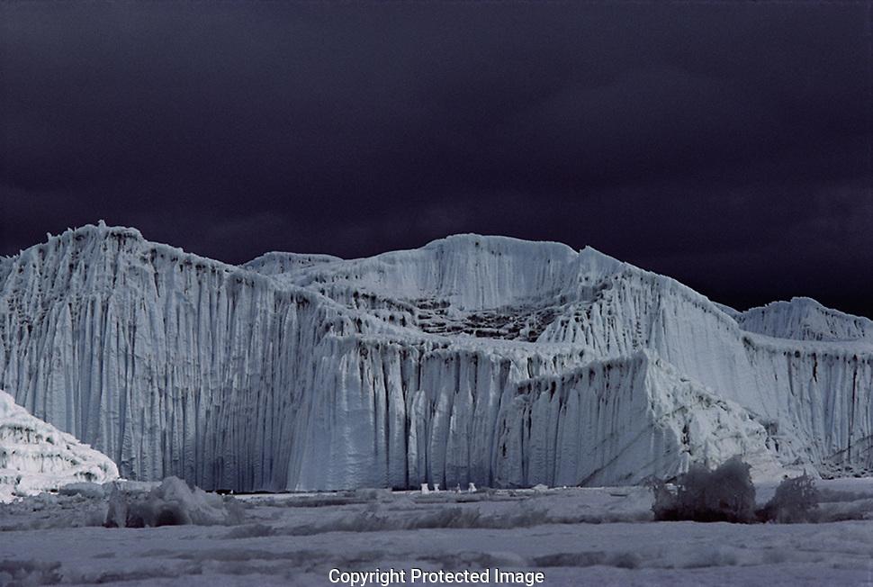Receding glacier in antarctica