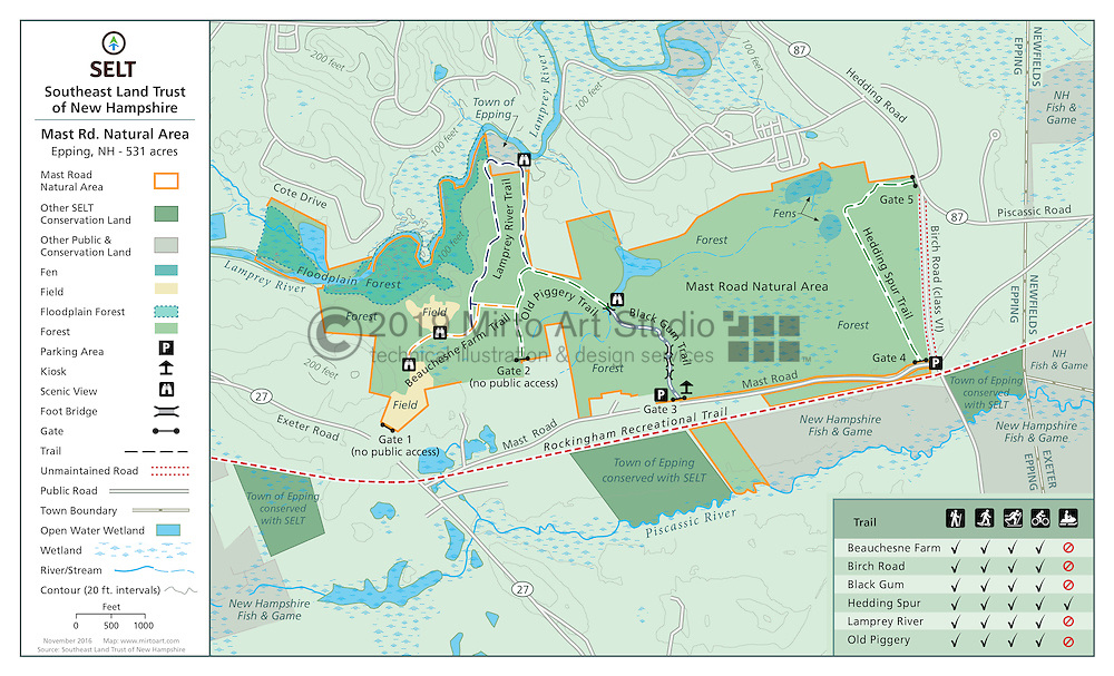 Mast Road Nature Area Trail Map Mirto Art Studio - Road map of new hampshire