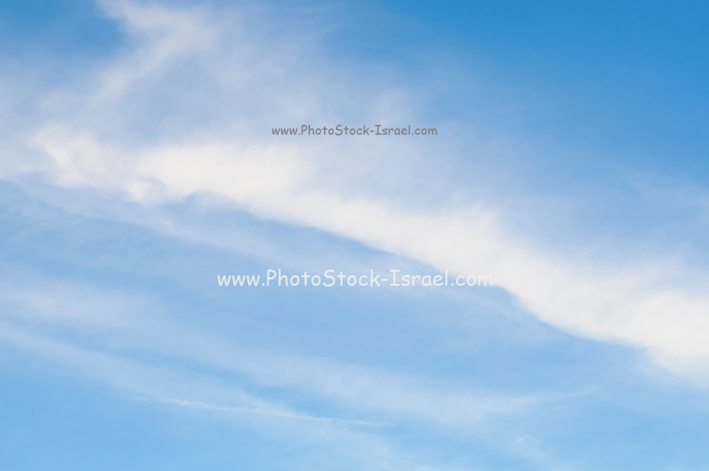 Light Cirrus clouds in blue sky