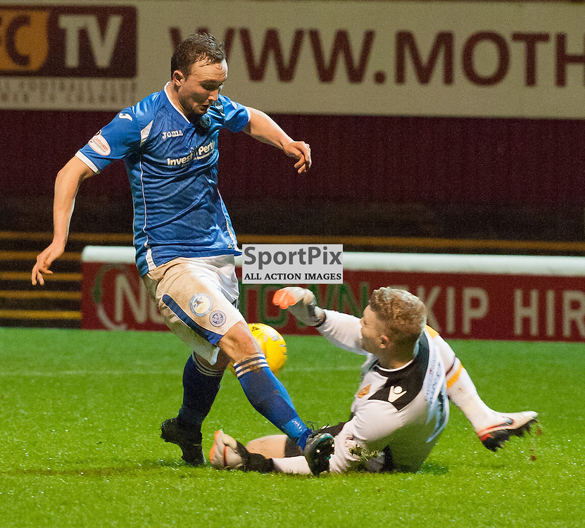 #1 Connor Ripley (Motherwell) saves bravely • Motherwell v St Johnstone • SPFL Premiership • 30 December 2015 • © Russel Hutcheson | SportPix.org.uk