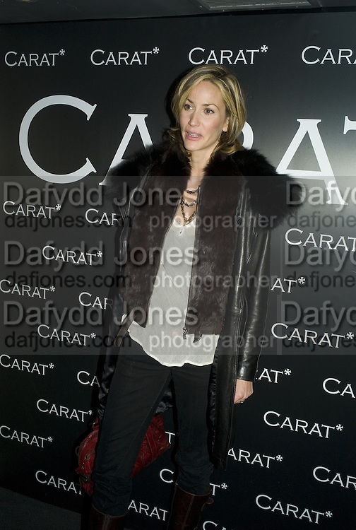 LISA BUTCHER, Party to launch CARAT a new diamond brand, Kitts. Sloane sq. London. 20 December 2007.  -DO NOT ARCHIVE-© Copyright Photograph by Dafydd Jones. 248 Clapham Rd. London SW9 0PZ. Tel 0207 820 0771. www.dafjones.com.