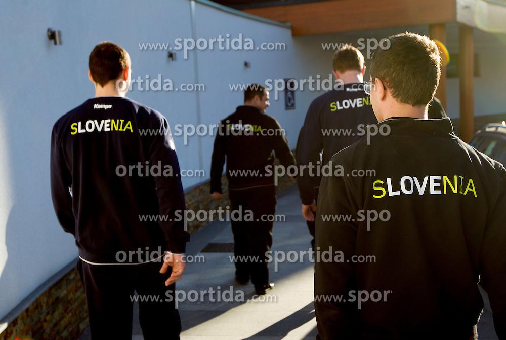 Team Slovenia at press conference of Slovenian Handball Men National Team, on January 13, 2011, in Zrece, Slovenia. (Photo by Vid Ponikvar / Sportida)