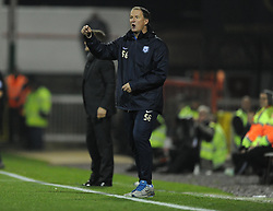 Preston North End Manager, Simon Grayson gives his players directions.- Photo mandatory by-line: Alex James/JMP - Mobile: 07966 386802 - 04/11/2014 - SPORT - Football - Swindon - County Ground - Swindon Town v Preston North End - Sky Bet League One