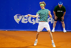 Alexander Zverev of Germany during a tennis match against the Albert Montanes of Espana in 1st round of singles at 25th Vegeta Croatia Open Umag, on July 22, 2014, in Stella Maris, Umag, Croatia. Photo by Urban Urbanc / Sportida