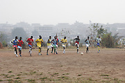 Early morning training session with King Faisal Football Clubs B and 2nd teams. Kumasi - Ghana's second largest city. Ghana. West Africa..Picture ©Zute Lightfoot 07939 108077.www.lightfootphoto.co.uk