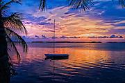 "Sailboat at Dusk on Islamorada, ""Village of Islands,"" in the Florida Keys"