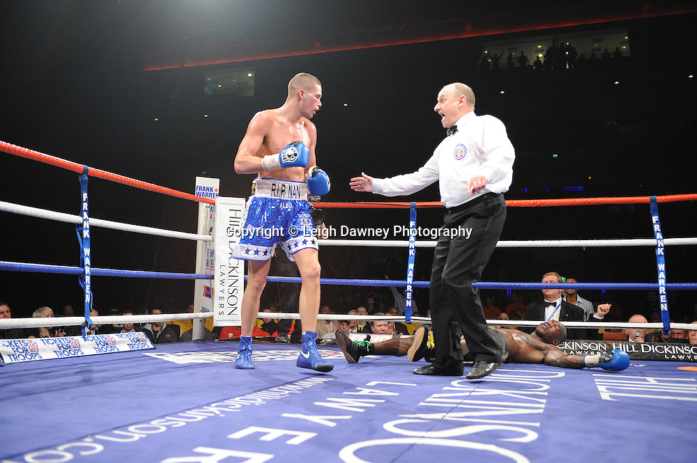 """Tony Bellew defeats Ovill McKenzie at the Echo Arena, Liverpool,11th December 2010,Frank Warren.tv Promotions """"Return Of The Magnificent Seven"""" © Photo Leigh Dawney"""