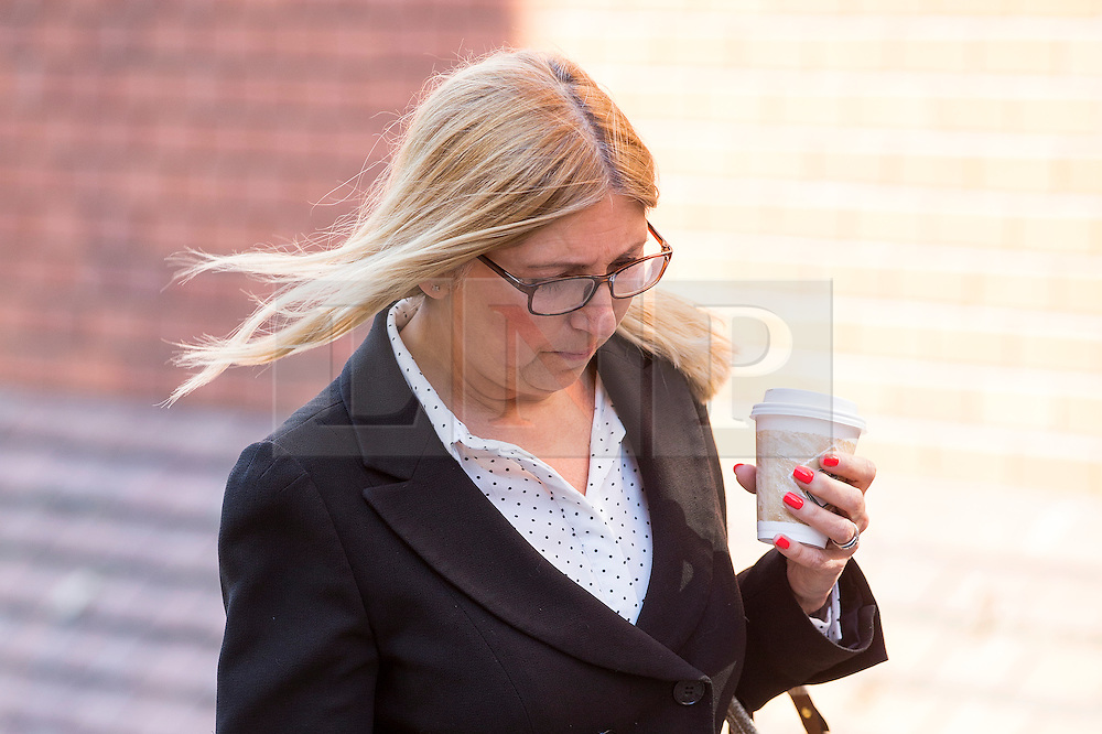 © Licensed to London News Pictures. 27/06/2016. Leeds UK. Picture shows Dean Michael Betteridge' s wife Karen arriving at Leeds Crown Court this morning for sentence. Front man for the 80's pop group Black Lace Dean Michael Betteridge & his wife Karen are to be sentenced today after admitting claiming more than £25,000 in disability benefits while he was singing with the pop group. Photo credit: Andrew McCaren/LNP