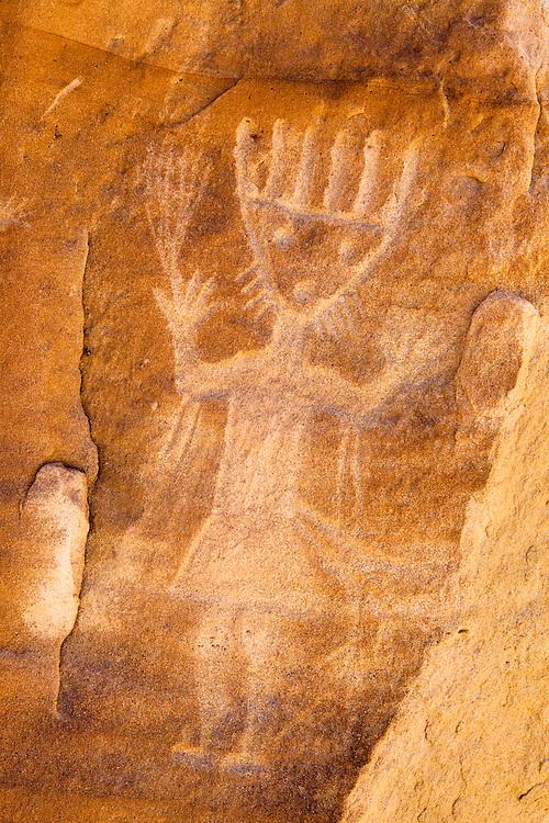 Largo Canyon petroglyphs, New Mexico.