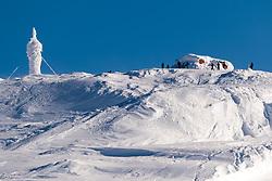 THEMENBILD - Gipfelstation Skiberg Aareskutan, aufgenommen am Freitag, 16. März 2018. Die alpinen Ski- Weltmeisterschaften 2019 finden von 05. bis 17. Februar in Aare /Schweden statt // Summit station at the Skiberg Aareskutan, pictured on Tuesday, March 13, 2018. The Alpine Skiing World Championships 2019 will take place from 05 to 17 February in Aare. Sweden on 2017/03/16. EXPA Pictures © 2018, PhotoCredit: EXPA/ Johann Groder