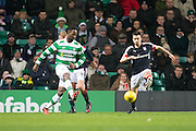 Celtic's Moussa Dembele and Dundee's Cammy Kerr - Celtic v Dundee in the Ladbrokes Scottish Premiership at Celtic Park, Glasgow. Photo: David Young<br /> <br />  - © David Young - www.davidyoungphoto.co.uk - email: davidyoungphoto@gmail.com
