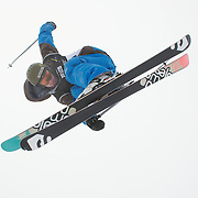 Matt Johnson, New Zealand, in action during the Freeski Halfpipe event at the Winter Games at Cardrona, Wanaka, New Zealand. 17th August 2011. Photo Tim Clayton...