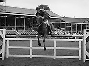 "07/08/1980<br /> 08/07/1980<br /> 07 August 1980<br /> R.D.S. Horse Show: John Player Top Score Competition, Ballsbridge, Dublin.  Captain J. Roche on ""Castle Park""."