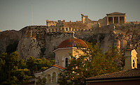 Athens, Greece- September 13, 2014: The Acropolis as seen from Monastiraki Square.  CREDIT: Chris Carmichael for The New York Times