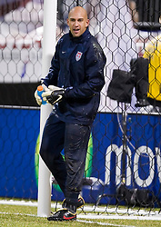 United States goalkeeper Tim Howard (1) before the Mexico game.  The United States men's soccer team defeated the Mexican national team 2-0 in CONCACAF final group qualifying for the 2010 World Cup at Columbus Crew Stadium in Columbus, Ohio on February 11, 2009.