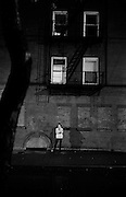 """Waiting on the Lower East Side...Part of long-term (2005-2008) story """"I See A Darkness"""". New York, NY."""