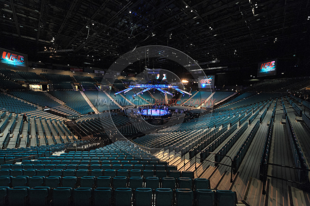 """LAS VEGAS, NEVADA, MAY 24, 2008: The arena sits empty ahead of """"UFC 84: Ill Will"""" inside the MGM Grand Garden Arena in Las Vegas"""