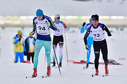 VOVCHYNSKYI Grygorii, UKR, LW8, NITTA Yoshihiro, JPN at the 2018 ParaNordic World Cup Vuokatti in Finland