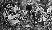 Holding the Home Front<br /> The Women&rsquo;s Land Army in the First World War book by Pen and sward<br /> <br /> Within days of the start of the First World War there were calls for women to come to the fields, but it would be almost three years before the Women&rsquo;s Land Army was established. In that time though, various private and public initiatives would be launched to pull women onto the land. The Women&rsquo;s Land Army would be shaped as much by the successes and failures of these earlier enterprises as by the precise requirements of 1917. It was a process of evolution, not revolution, and agricultural policy had also evolved over the course of the first three years of the war. By the spring of 1917 farmers were being called upon to plough out, to push back the borders and extend the cultivated acreage back to the highs of the 1870s. Agriculture would thus need most labour just as it had least available. Britain&rsquo;s food security had never looked most precarious than it did at the start of 1917.<br /> <br /> Photo Shows Women working in t:he forests of Brent Tor, Devon. Illustrated War News, 8 August 1917.<br /> &copy;Pen and sward/Exclusivepix Media
