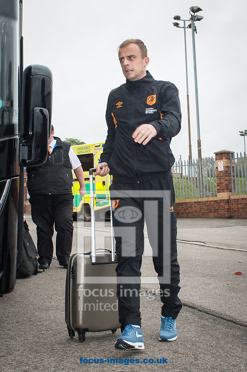 Kamil Grosicki of Hull City arrives at Oakwell. Barnsley, prior to the Sky Bet Championship match between Barnsley and Hull City <br /> Picture by Matt Wilkinson/Focus Images Ltd 07814 960751<br /> 21/10/2017