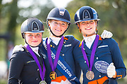 Prijsuitreiking Young Riders Freestyle<br /> Longines FEI European Championships 2018<br /> © DigiShots