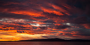 Beagle Channel sunset, Navarino Isand, Chile.