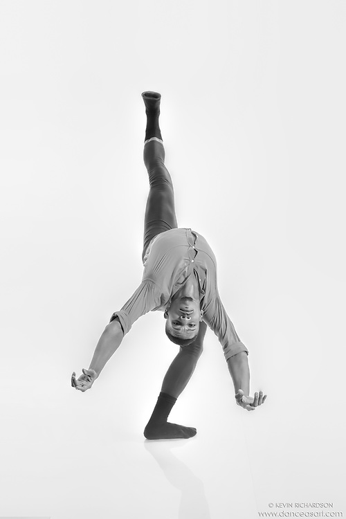 Black and white dance photography- Looking Back- featuring Dance As Art dancer Jarrett Rashad