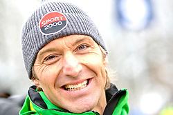 25.01.2013, Streif, Kitzbuehel, AUT, FIS Weltcup Ski Alpin, Abfahrt, Herren, Super G, im Bild Ex-Skiass Hans Knauss (AUT) // during mens SuperG ..of the FIS Ski Alpine World Cup at the Streif course, Kitzbuehel, Austria on 2013/01/25. EXPA Pictures © 2013, PhotoCredit: EXPA/ Markus Casna
