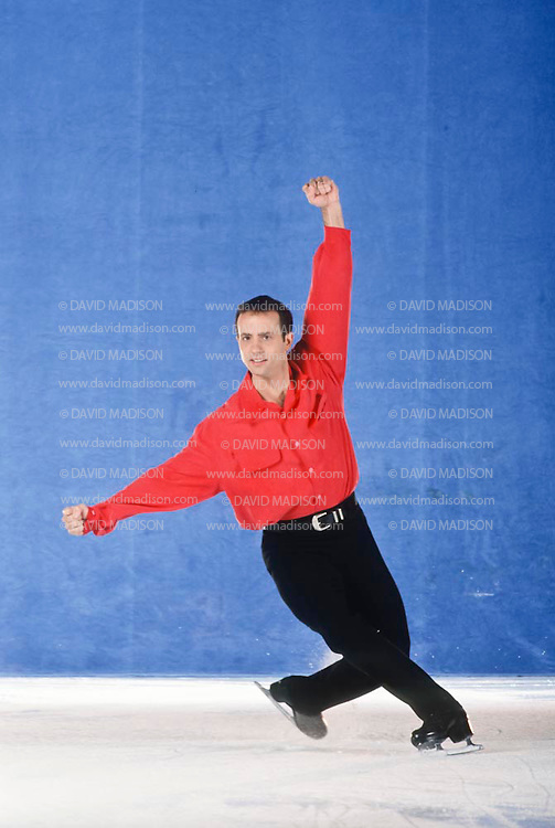 DUBLIN, CA -  OCTOBER 27:  Brian Boitano of the USA skating at the Dublin Iceland arena in Dublin, California on October 27, 1993.  Boitano was the Olympic Champion in Men's Figure Skating at the 1988 Winter Olympics.  (Photo by David Madison/Getty Images) *** Local Caption *** Brian Boitano