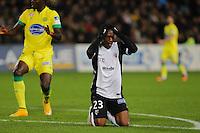 Deception Yeni NGBAKOTO - 16.12.2014 - Nantes / Metz - Coupe de la Ligue -<br />Photo : Vincent Michel / Icon Sport