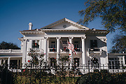MONTGOMERY, AL – JANUARY 5, 2016: The Governor's Mansion in Montgomery, Alabama. In December 2015, Governor Robert Bentley announced a plan to use leftover grant money from the 2010 BP oil spill to rehabilitate the Governor's Coastal Mansion – a beach house developed in the 1960s with the intent of attracting economic growth to the Gulf Shores area. Some are critical of the decision, questioning the propriety of using the remaining oil spill money to renovate the property, and accusing the governor of only taking interest after losing two beach homes in recent divorce. Bentley contends it is in the state's interest to see the mansion restored and functioning as intended. CREDIT: Bob Miller for The New York Times