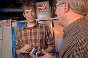 16916Industrial Technology: Classroom : Lab student shots..Chris Batty(brown shirt), Dr. Deno(right)