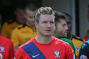 York City defender Dave Winfield during the Sky Bet League 2 match between Newport County and York City at Rodney Parade, Newport, Wales on 5 September 2015. Photo by Simon Davies.