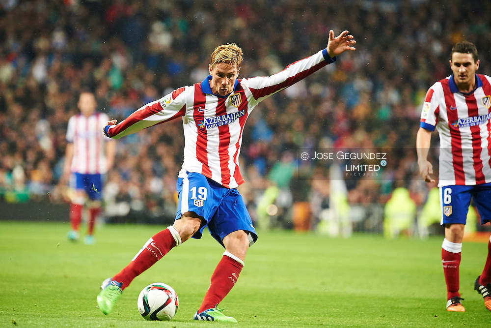 Fernando Torres during the Copa del Rey, round of 8 match between Real Madrid and Atletico de Madrid at Estadio Santiago Bernabeu on January 15, 2015 in Madrid, Spain.