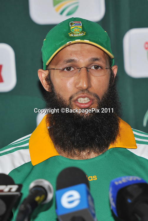 Hashim Amla of South Africa <br /> <br /> &copy; Sabelo Mngoma/BackpagePix