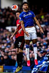 Dominic Calvert-Lewin of Everton challenges Nemanja Matic of Manchester United - Mandatory by-line: Robbie Stephenson/JMP - 01/03/2020 - FOOTBALL - Goodison Park - Liverpool, England - Everton v Manchester United - Premier League