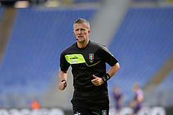 October 7, 2018 - Rome, Italy - Daniele Orsato during the Italian Serie A football match between S.S. Lazio and Fiorentina at the Olympic Stadium in Rome, on october 07, 2018. (Credit Image: © Silvia Lore/NurPhoto/ZUMA Press)