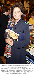 BARONESS RAWLINGS at a party in London on 5th September 2002.PCY 38