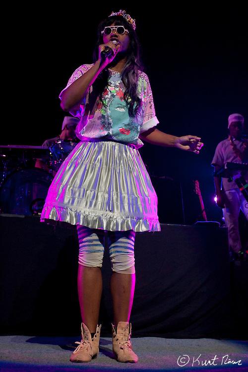 March 31, 2012 - Orlando, Florida, U.S. - Santigold performs at the Amway Center in Orlando, Florida.