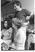 Alex Shulman; Tchaik Chassay; Henrietta Sykes, 192, Kensington Pk Rd. London. 1983.<br /> <br /> SUPPLIED FOR ONE-TIME USE ONLY> DO NOT ARCHIVE. © Copyright Photograph by Dafydd Jones 248 Clapham Rd.  London SW90PZ Tel 020 7820 0771 www.dafjones.com