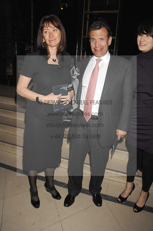 ANITA &amp; POJU ZABLUDOWICZ at 'Figures of Speech' a fundraising gala dinner in aid of the ICA held at the Lawrence Hall, Greycoat Street, London on 27th February 2008.<br />