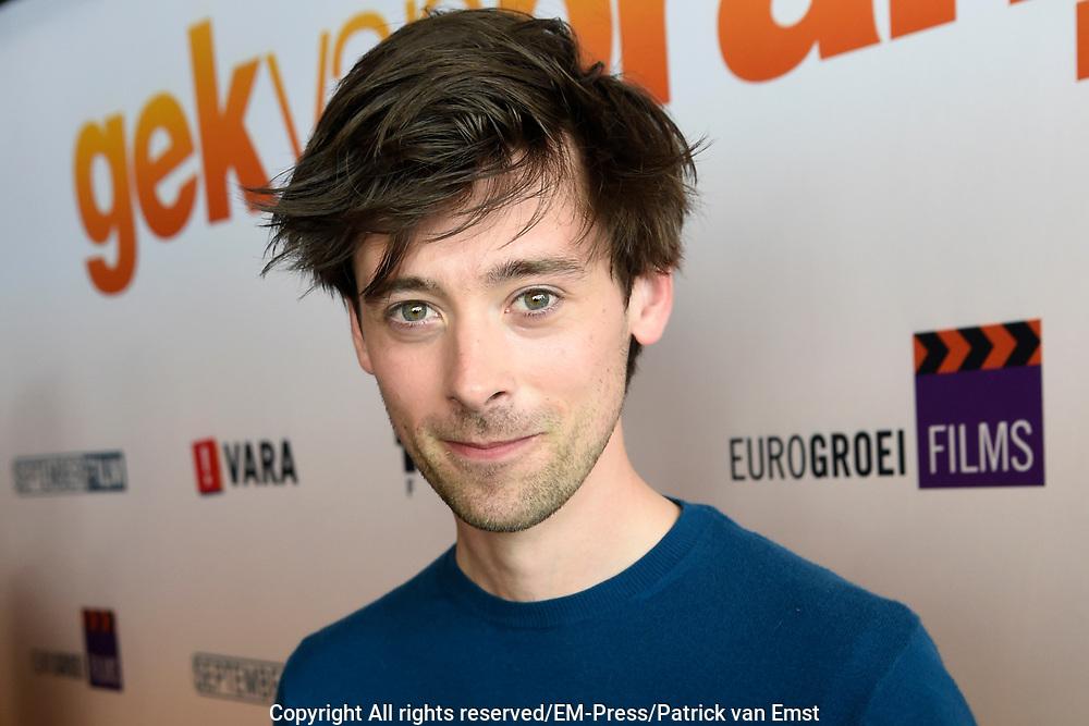 Perspresentatie Cast speelfilm GEK VAN ORANJE<br /> <br /> Op de foto:  Willem Voogd