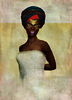 Celebrate powerful Blackness and humanity with this incredible fine art piece from Jan Keteleer. This is clearly a woman who has seen and done some incredible things in her time on earth. Pay particular attention to her pose. She is regal. She is powerful. You can also see the weight of a world that is often nearly impossible to exist in. Yet she continues to move forward. She continues to write her own narrative, and it is clearly a narrative that is meant to inspire men and women of all ages and backgrounds. You can imagine something like this just about anywhere.