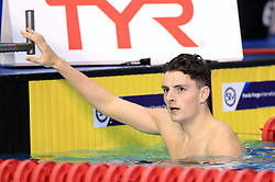 Elliot Clogg after winning the Men's Junior 100m Freestyle Final during day three of the 2017 British Swimming Championships at Ponds Forge, Sheffield.